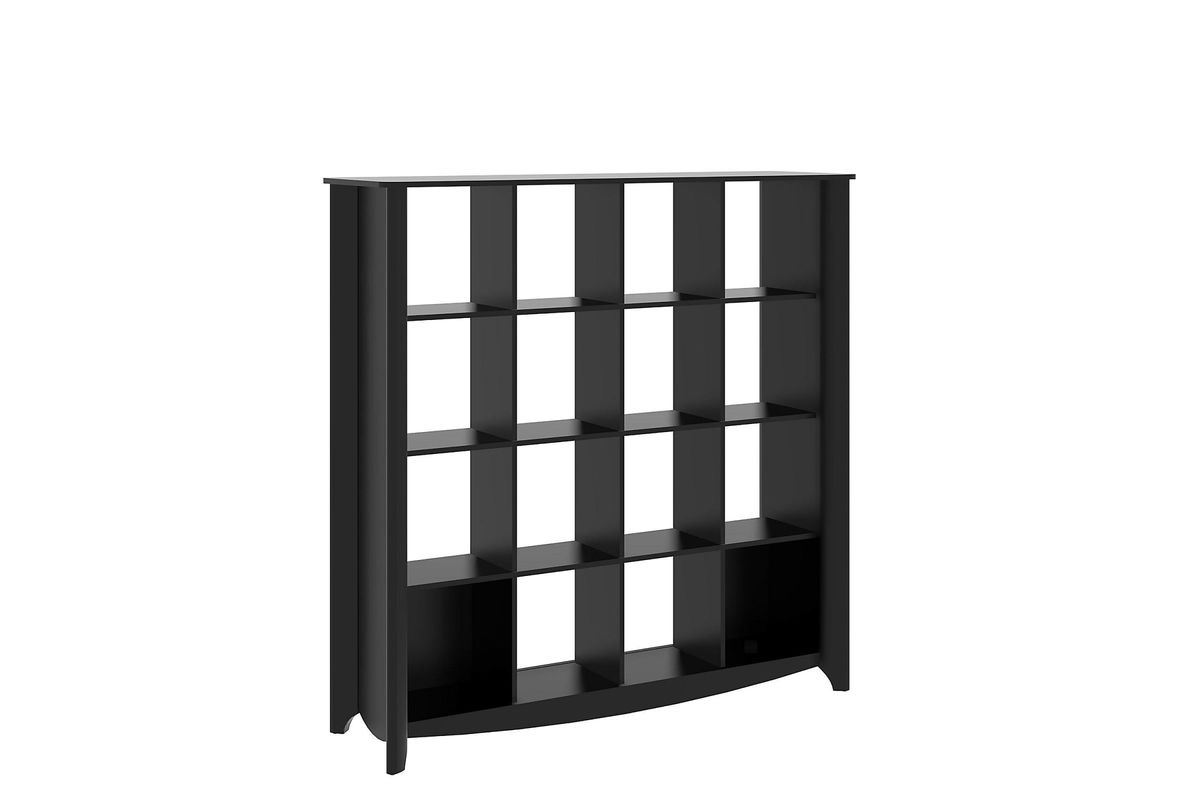 Aero 16 Cube Bookcase Room Divider In Black By Bush From Gardner White