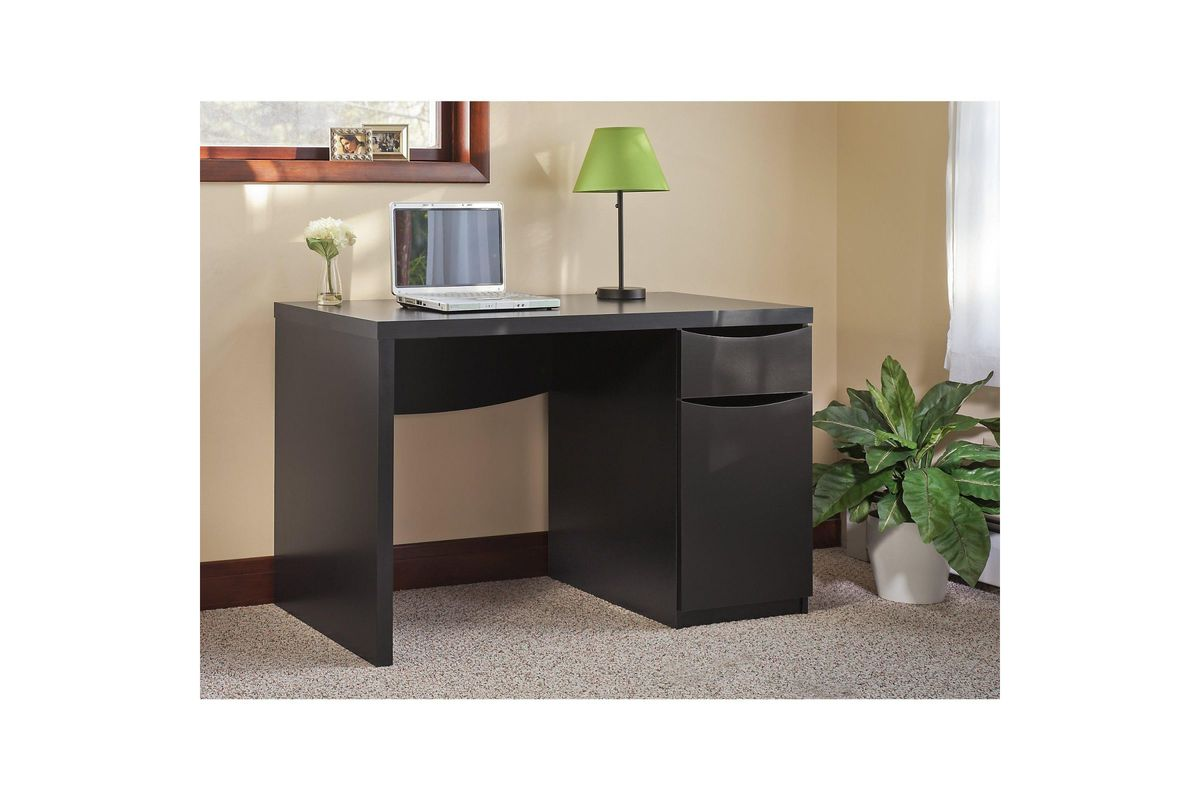Montrese Computer Desk In Classic Black By Bush At Gardner