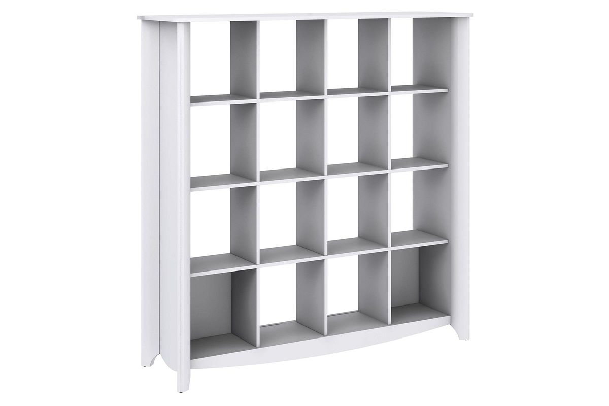 Aero 16 Cube Bookcase Room Divider In White By Bush From Gardner