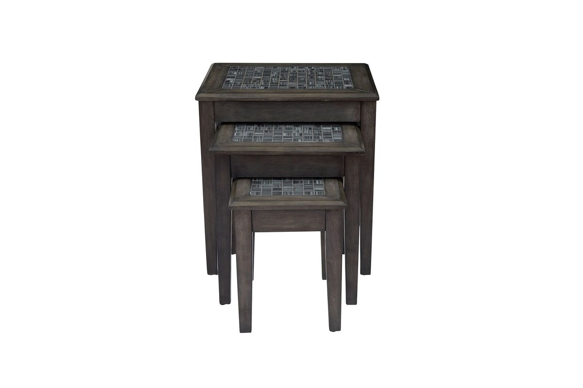 Grey Mosaic Nesting Tables from Gardner-White Furniture