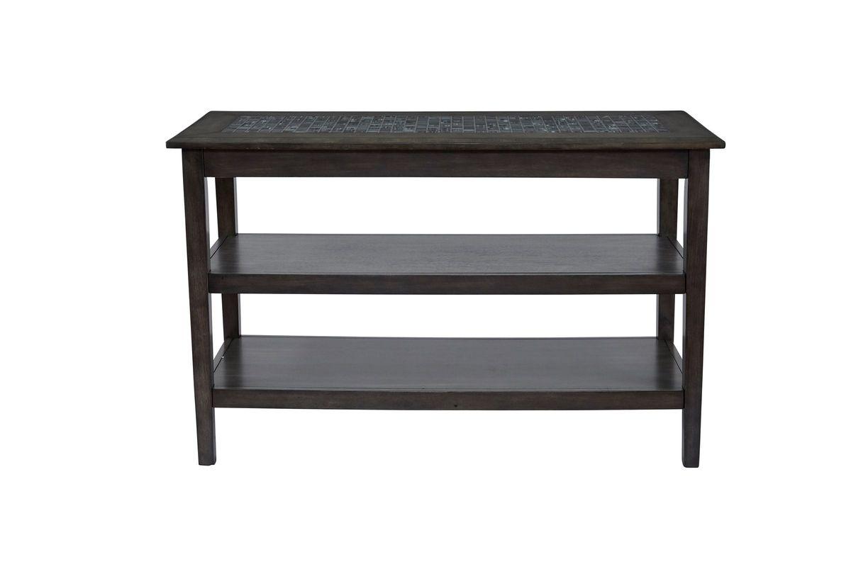 Grey Mosaic Sofa Table from Gardner-White Furniture