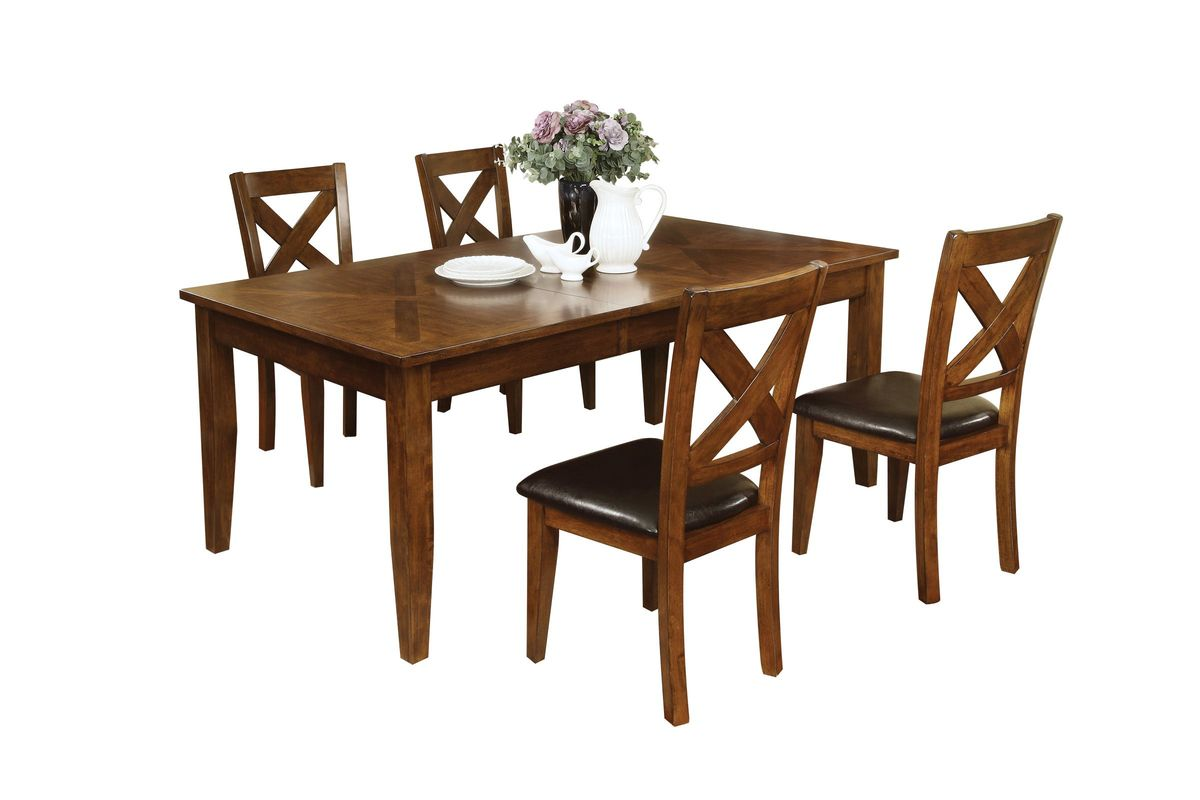 Lidia Dining Table + 4 Side Chairs from Gardner-White Furniture