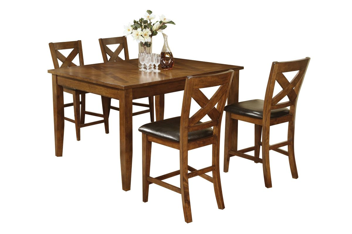 Lidia Pub Table + 4 Stools from Gardner-White Furniture