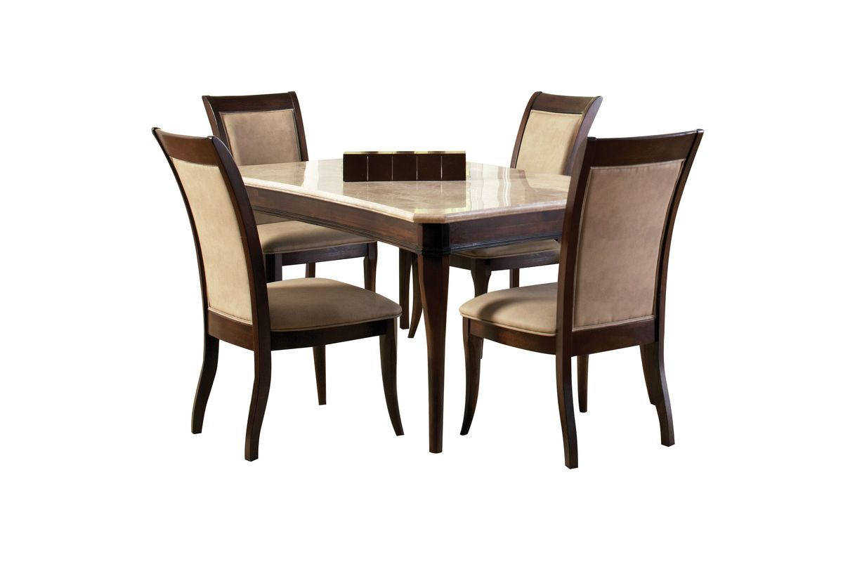 Marseille Dining Table + 4 Side Chairs from Gardner-White Furniture