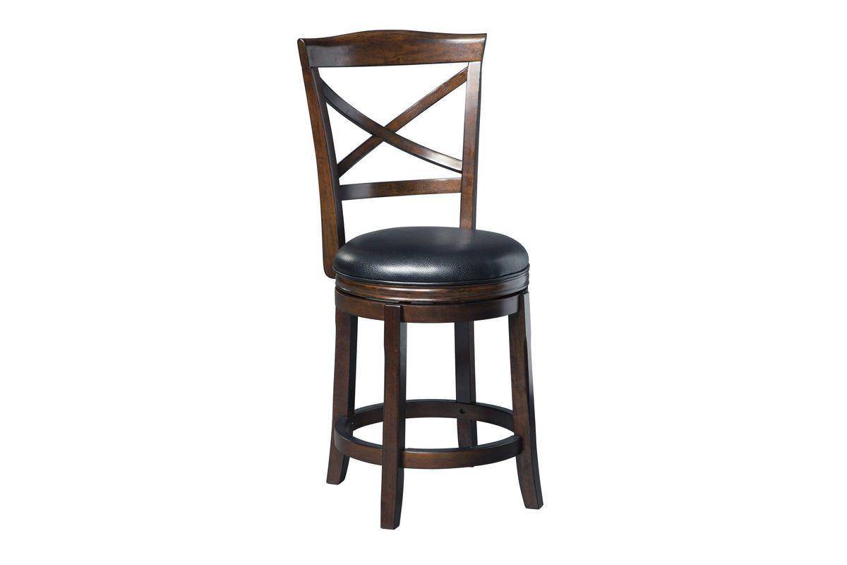 Porter Upholstered Swivel Barstool Set of 2 by Ashley from Gardner-White Furniture