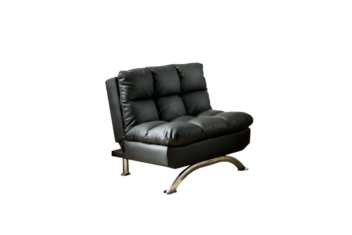 Barraza Plush Tufted Pillow Top Leatherette Chair