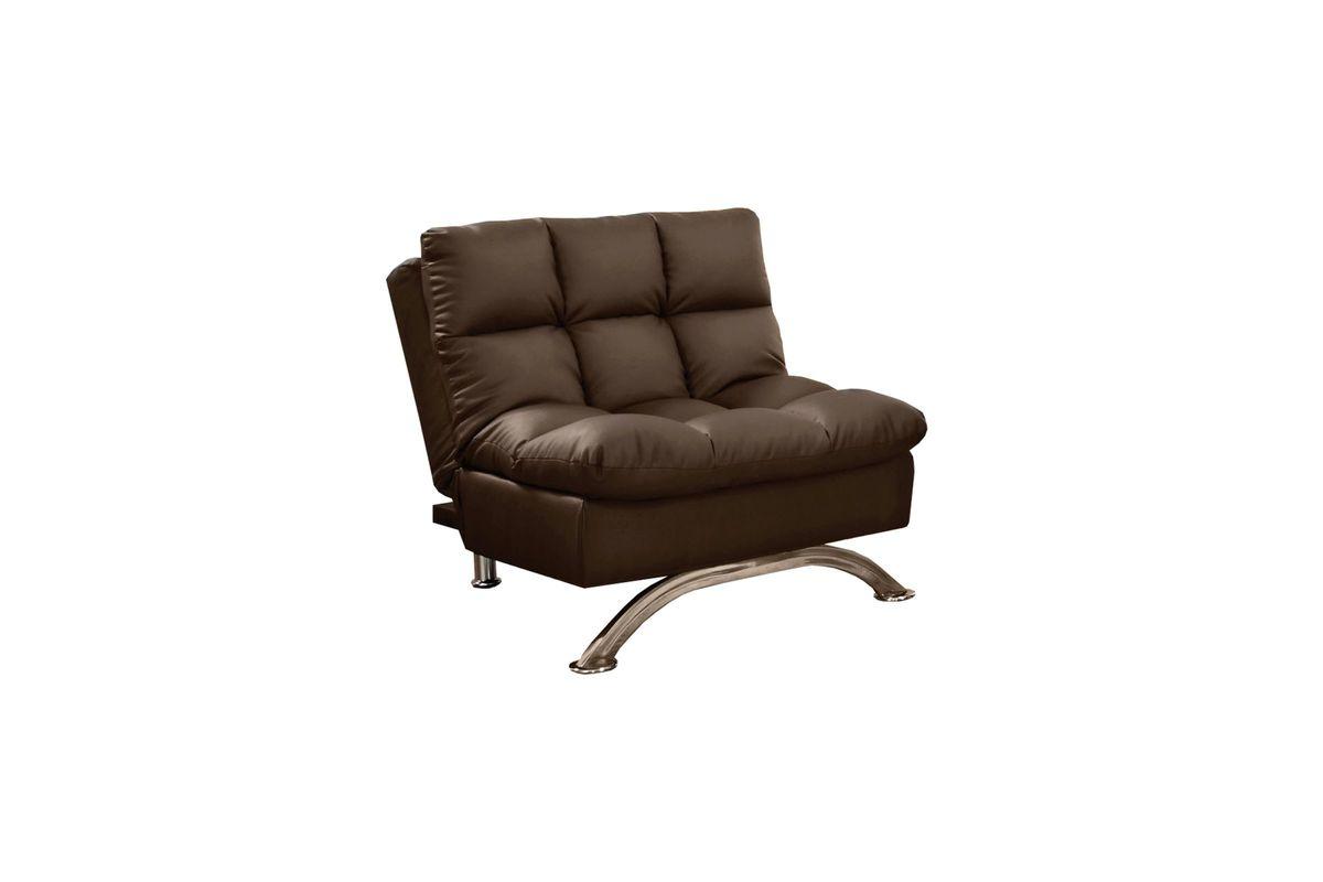 Magnificent Barraza Plush Tufted Pillow Top Leatherette Chair Ottoman In Dark Brown Frankydiablos Diy Chair Ideas Frankydiabloscom