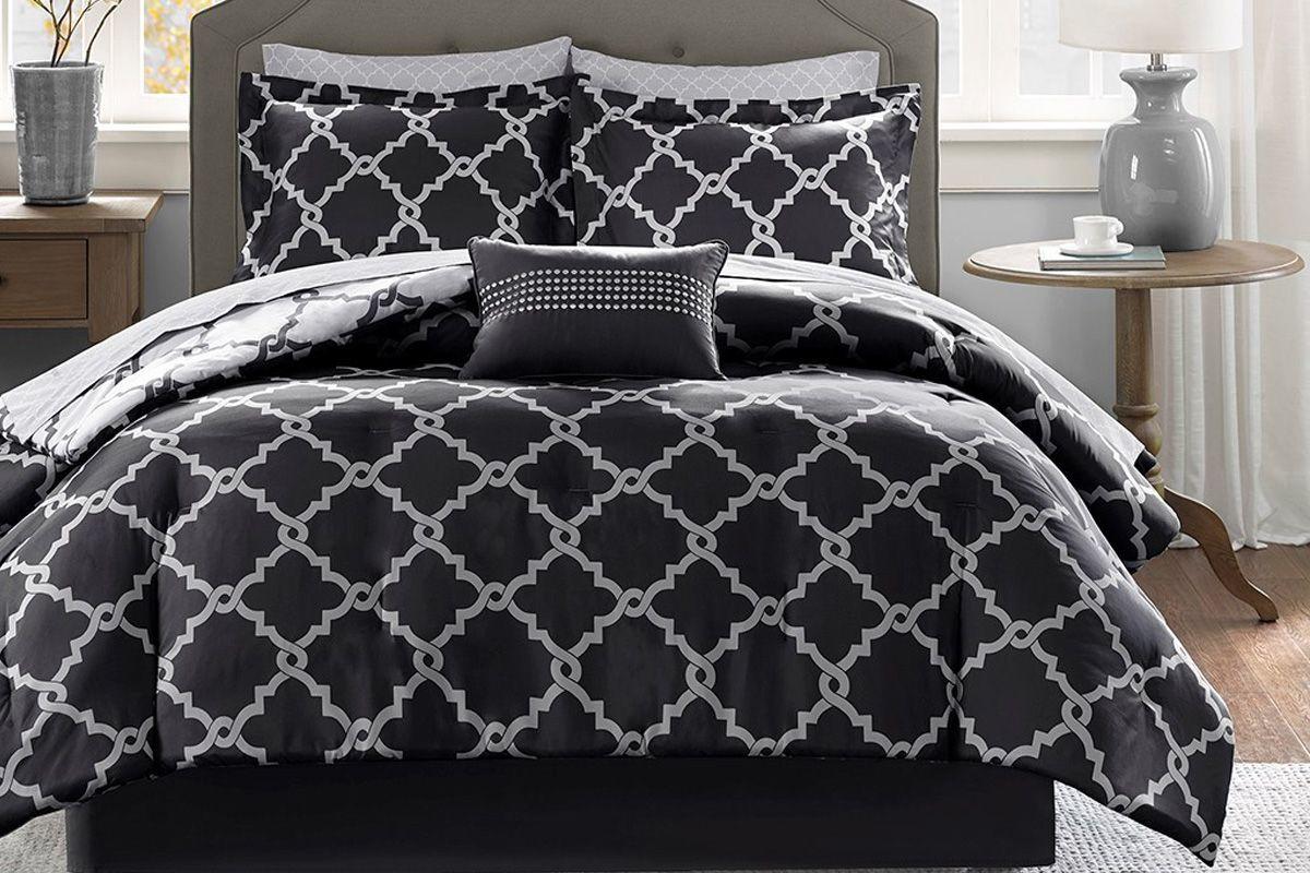 Merritt 9 Piece King Reversible Comforter Set At Gardner White