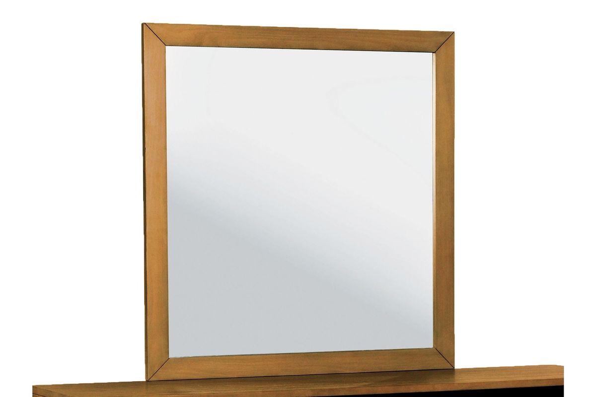Ramyna Rectangle Wood Framed Mirror in Oak at Gardner-White