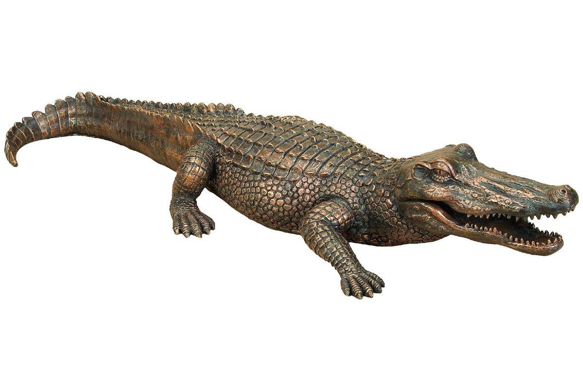 Global Inspired Alligator Garden Sculpture From Gardner White Furniture