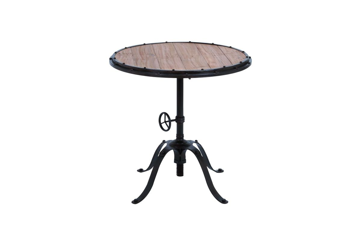 Industrial Inspired Round Wrought Iron Side Table From Gardner White  Furniture