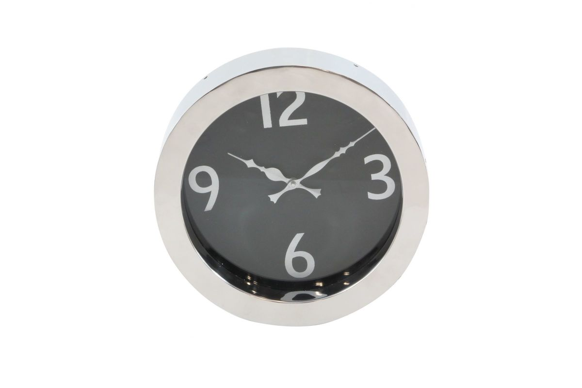 Modern Reflections 12 Stainless Steel Round Wall Clock