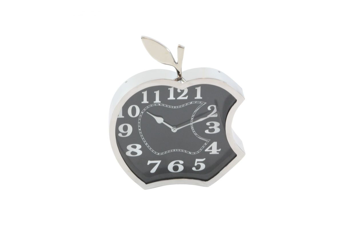 Modern Reflections 14 Stainless Steel Apple Wall Clock