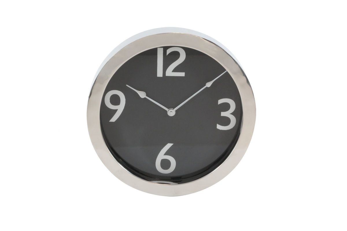 Modern Reflections 16 Stainless Steel Round Wall Clock