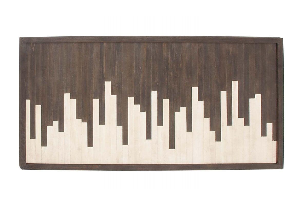 Modern Reflections Skyline Wall Panel in Dark Brown from Gardner-White Furniture