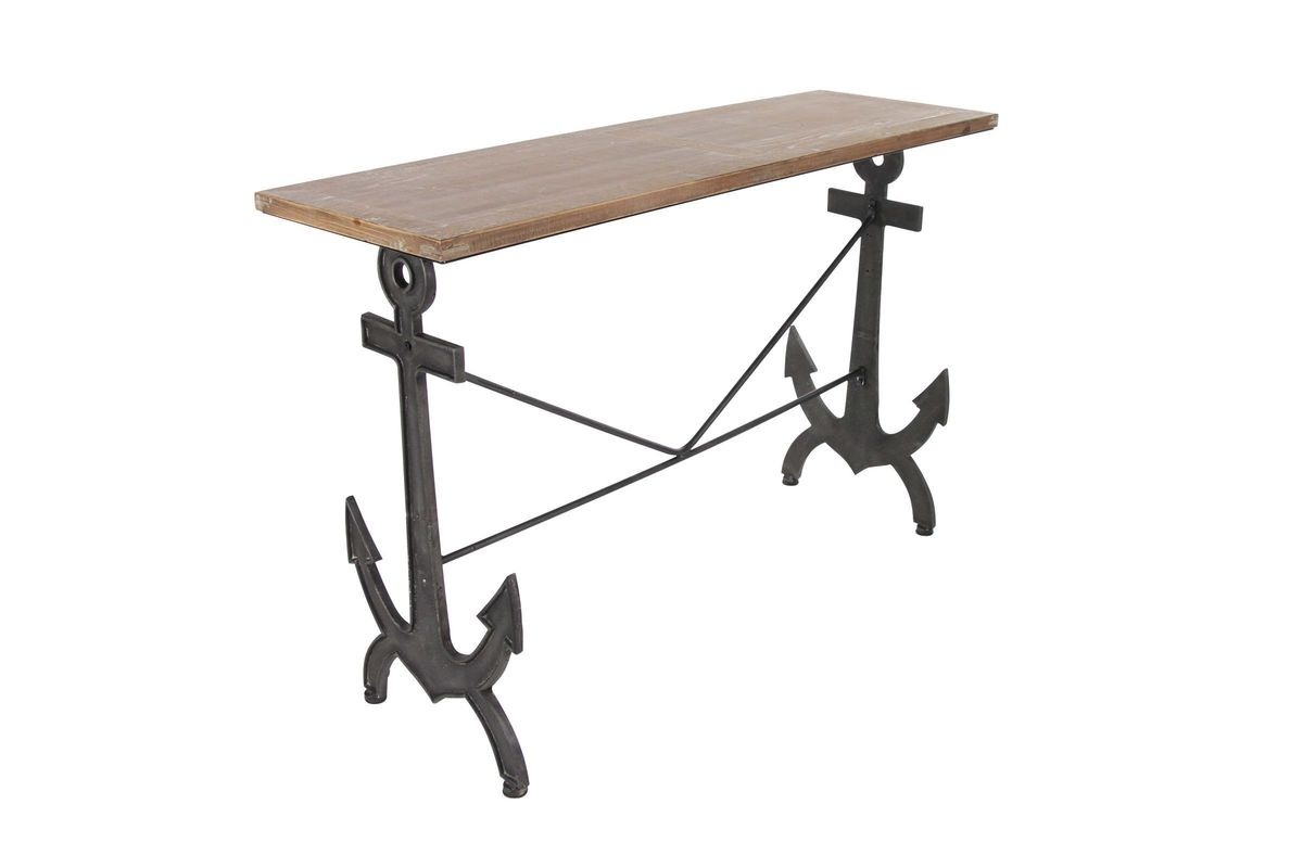 Nautical Console Table With Anchor Shaped Legs At Gardner