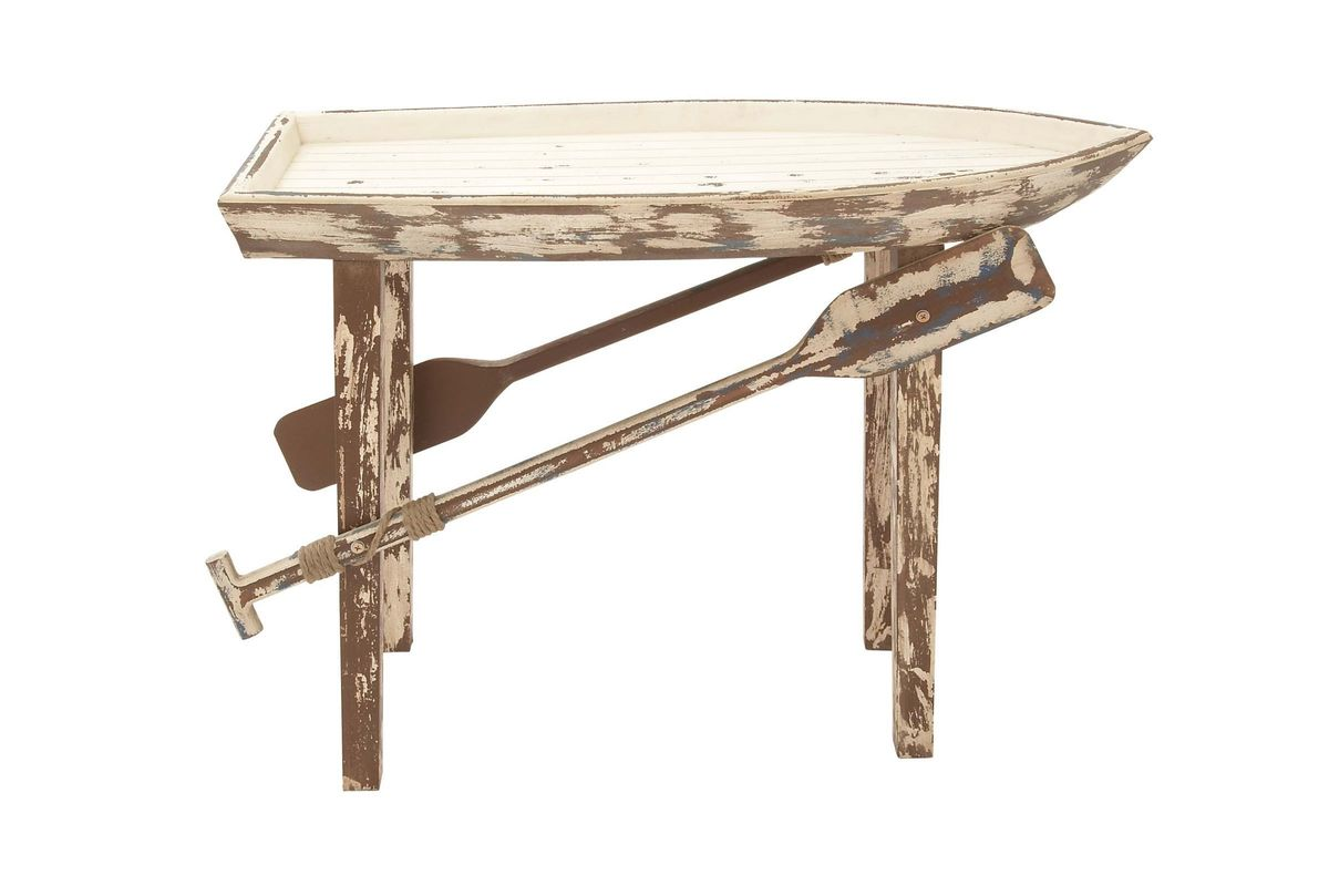 Rustic Distressed Nautical Console Table
