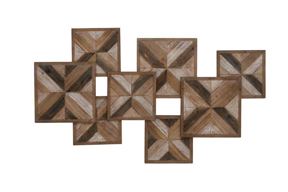 Rustic Reflections Herringbone Wall Decor By Uma From Gardner White Furniture