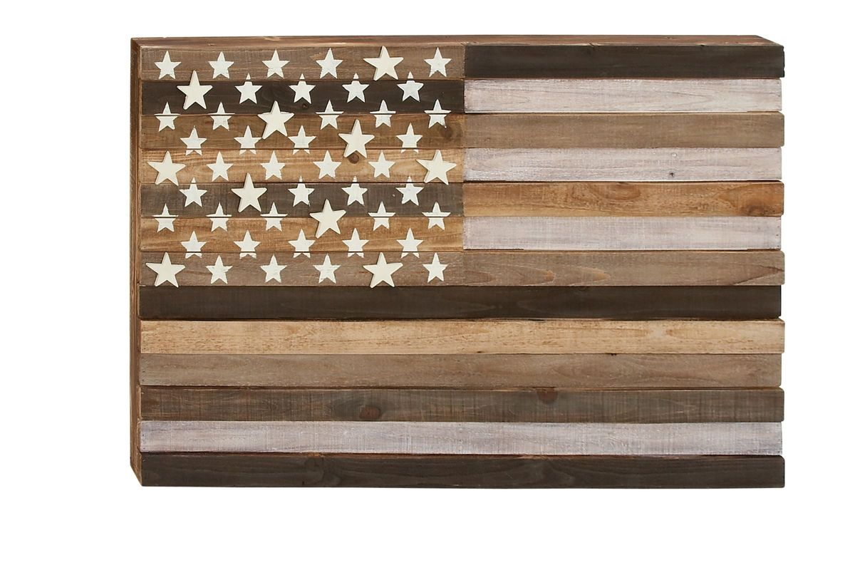 Rustic Reflections Wooden Flag Wall Decor