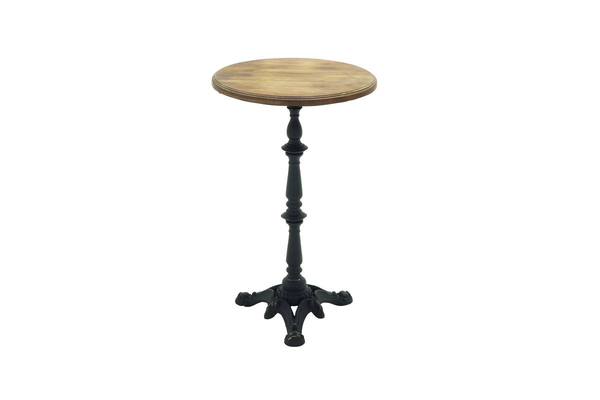 Vintage Industrial Pedestal Accent Table In Maple From Gardner White  Furniture