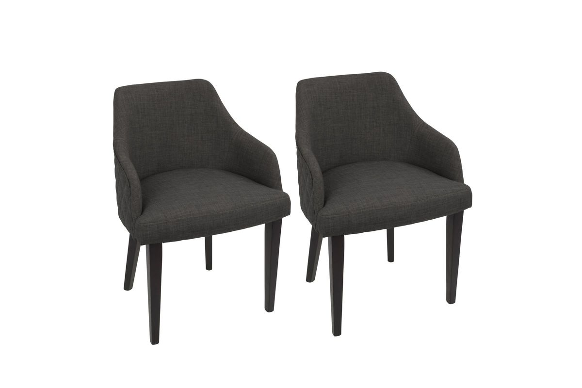 Elliott Contemporary Dining Chairs (Set Of 2) In Espresso And Charcoal By  LumiSource From