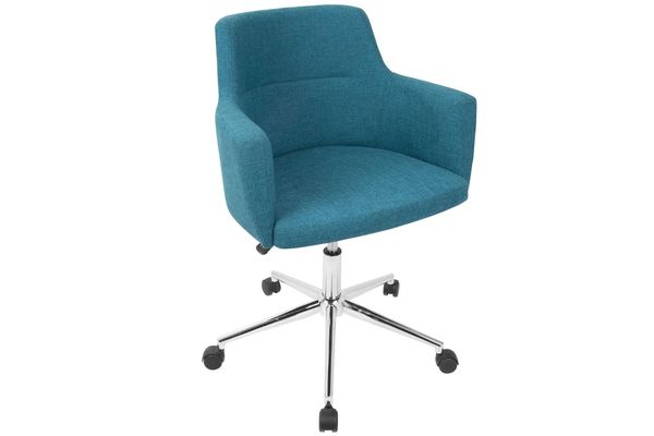 Teal mid-century modern style office chair