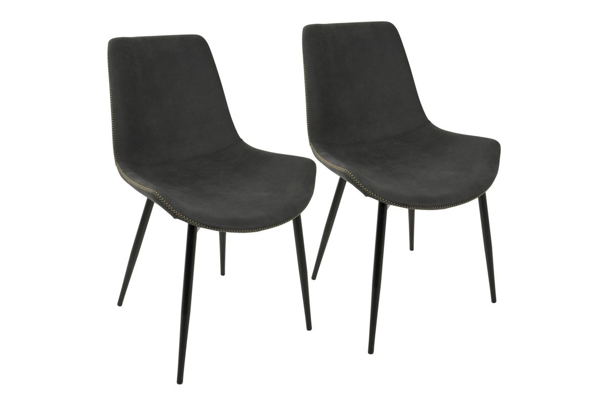 Merveilleux Duke Industrial Dining Chairs (Set Of 2) In Charcoal By LumiSource From  Gardner