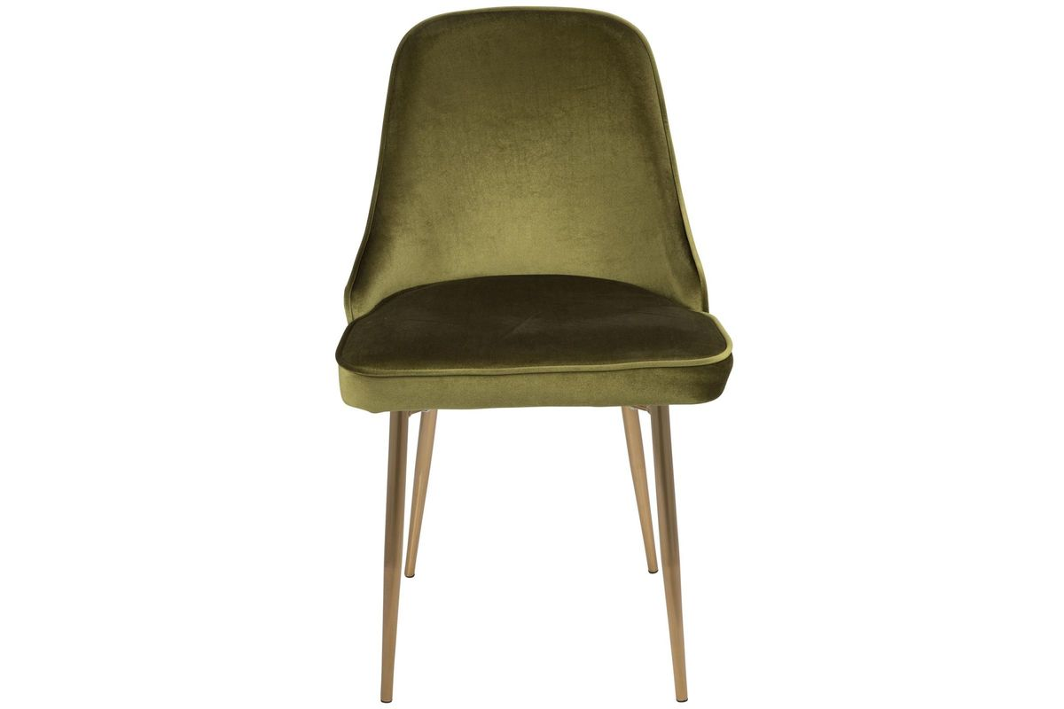 marcel contemporary dining chairs set of 2 in green velvet and gold by lumisource. Black Bedroom Furniture Sets. Home Design Ideas