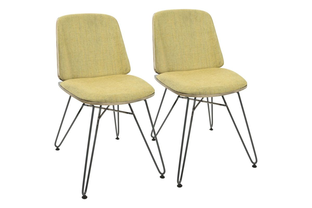 Beau Avery Mid Century Modern Dining Chairs (Set Of 2) In Dark Grey And