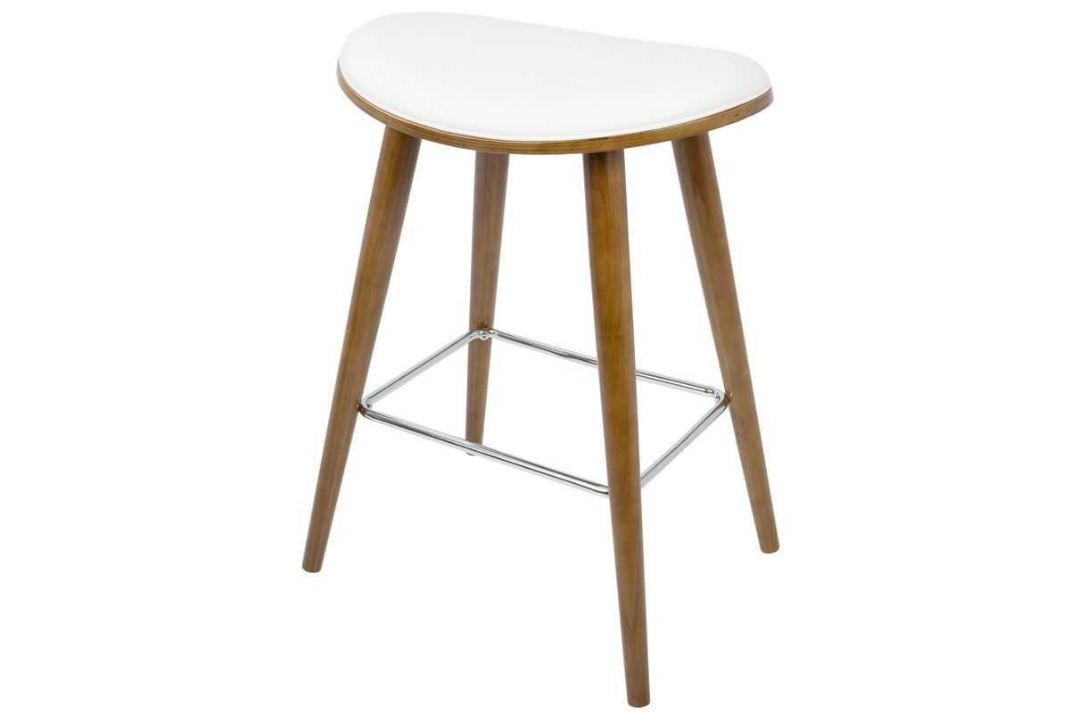 """Saddle 26"""" Mid-Century Modern Counter Stools (Set of 2) in ..."""