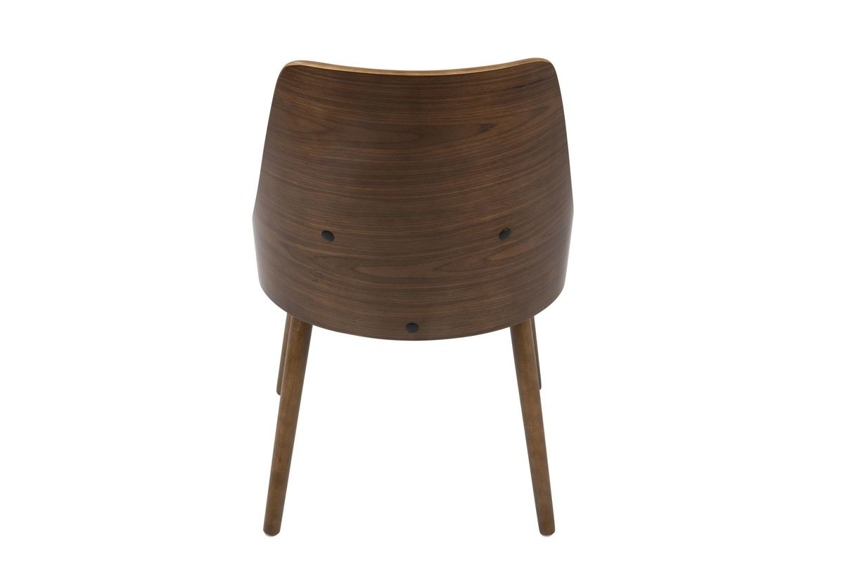 Anabelle mid century modern dining chair in walnut and for Walnut dining chairs modern