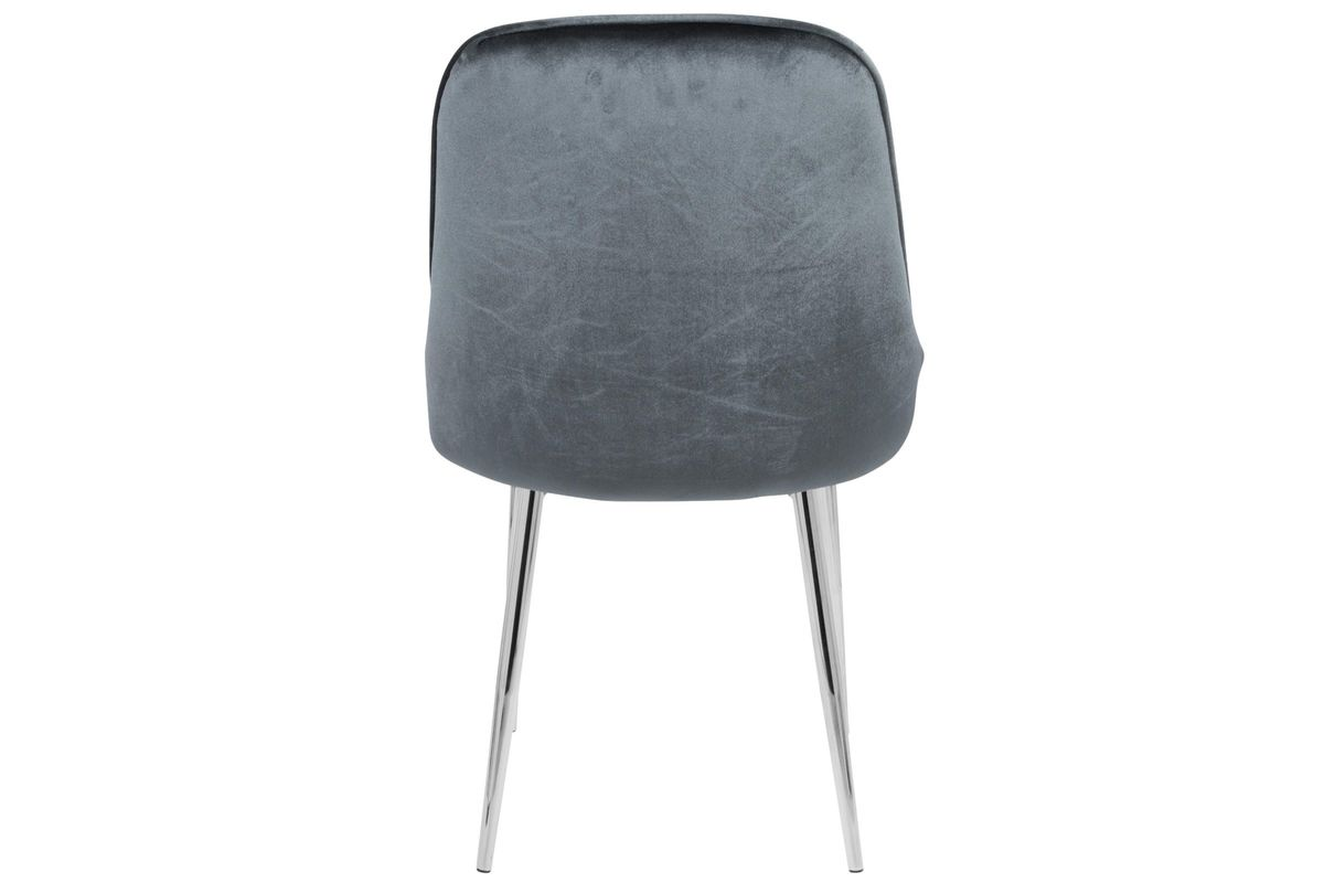 Marcel Contemporary Dining Chairs Set Of 2 In Blue