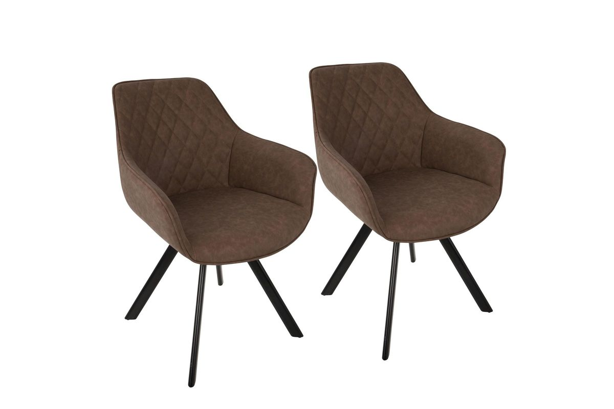 Charmant Outlaw Industrial Accent Chairs (Set Of 2) In Brown By LumiSource From  Gardner