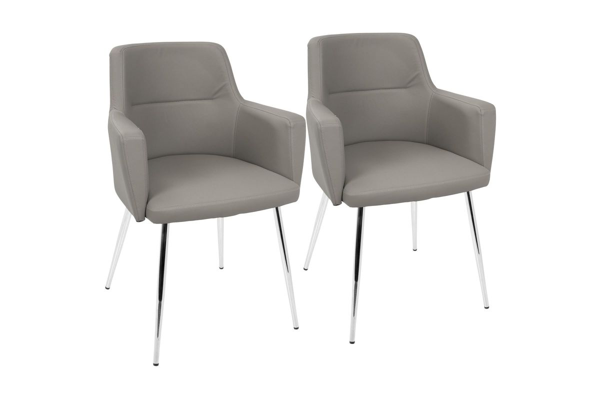 Prime Andrew Contemporary Accent Chairs Set Of 2 In Grey By Lumisource Pdpeps Interior Chair Design Pdpepsorg