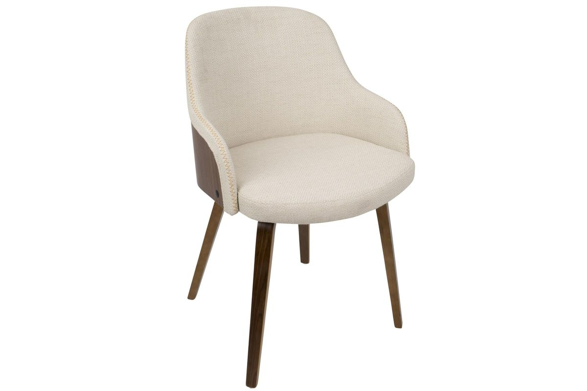 Bacci Mid Century Modern Accent Chair In Cream By LumiSource From  Gardner White Furniture