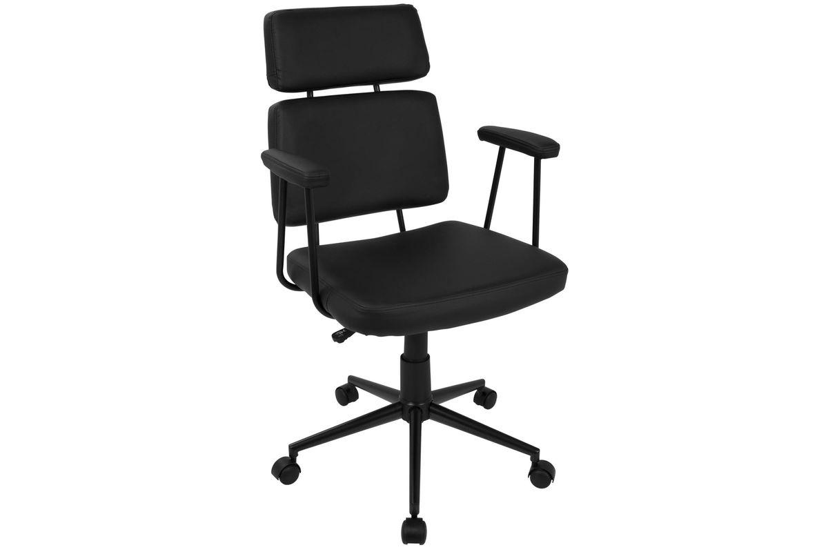 Sigmund Contemporary Adjustable Office Chair in Black by LumiSource from Gardner-White Furniture