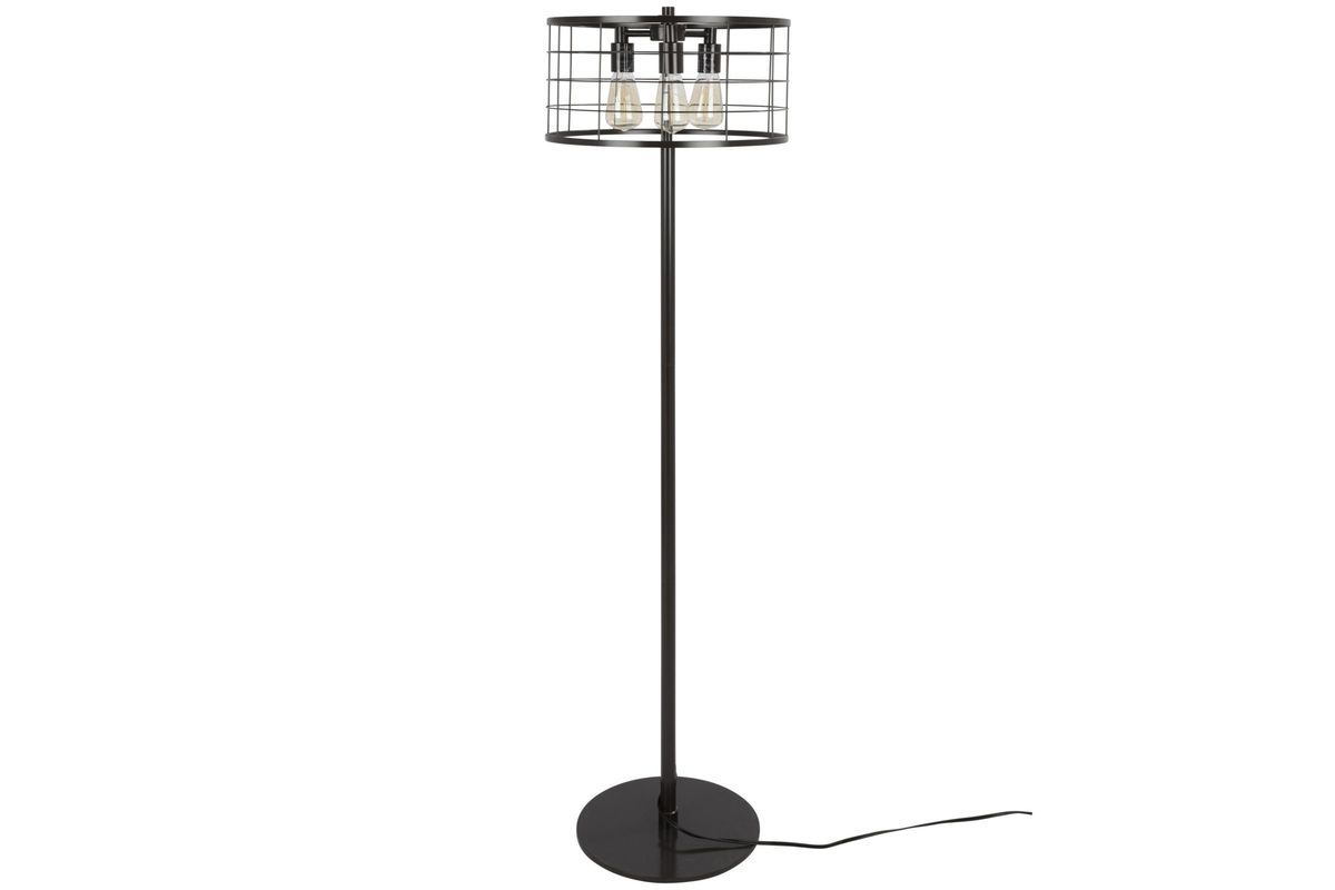 Indy Wire Industrial Floor Lamp With Antique Metal By