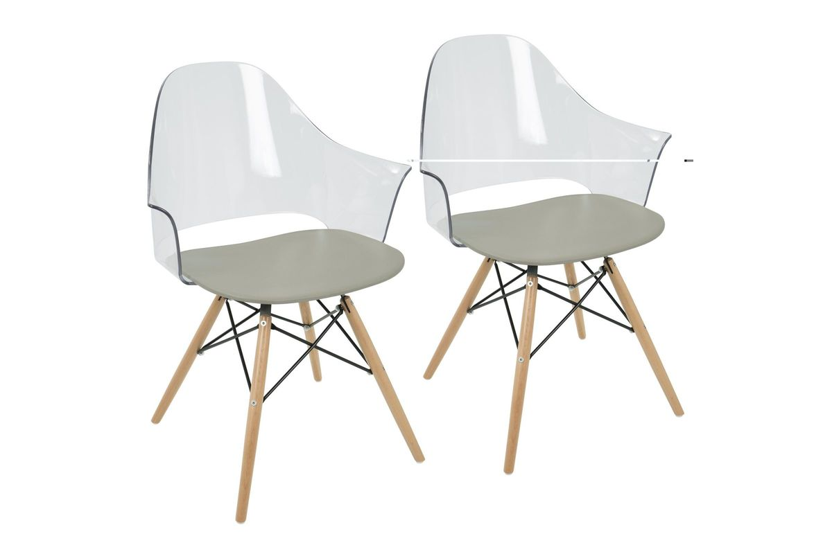 Tonic Flair Mid Century Modern Accent Chairs (Set Of 2) In Grey By
