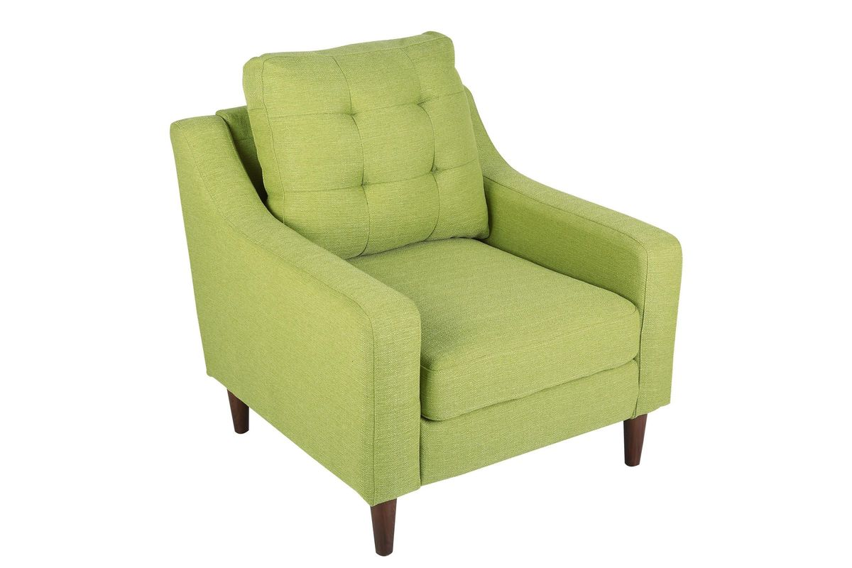 Maverick Mid Century Modern Accent Chair In Green By Lumisource