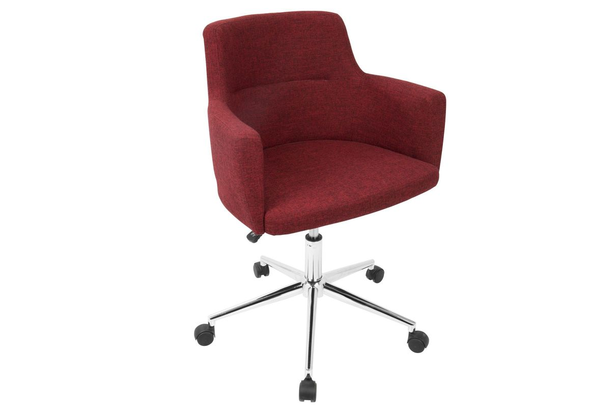 Andrew Contemporary Adjustable Office Chair in Red by LumiSource from Gardner-White Furniture