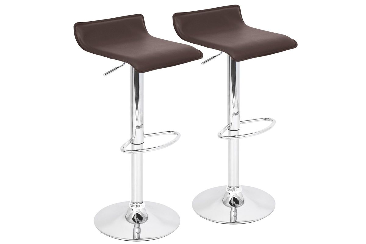 Amazing Ale Contemporary Adjustable Bar Stools Set Of 2 In Brown By Lumisource Alphanode Cool Chair Designs And Ideas Alphanodeonline