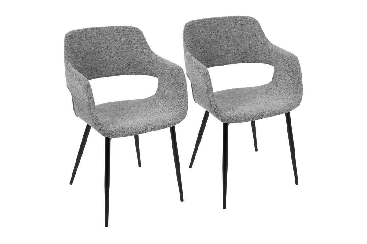 Charmant Margarite Mid Century Modern Dining Chairs (Set Of 2) In Grey By LumiSource