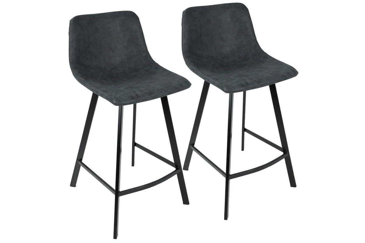 Magnificent Outlaw Industrial Counter Stools Set Of 2 In Blue By Lumisource Inzonedesignstudio Interior Chair Design Inzonedesignstudiocom