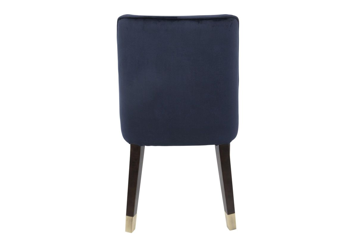 Zora Contemporary Dining Chairs Set Of 2 In Navy Blue