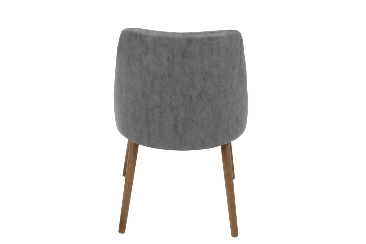 Giovanni Mid Century Modern Dining Chair In Walnut And