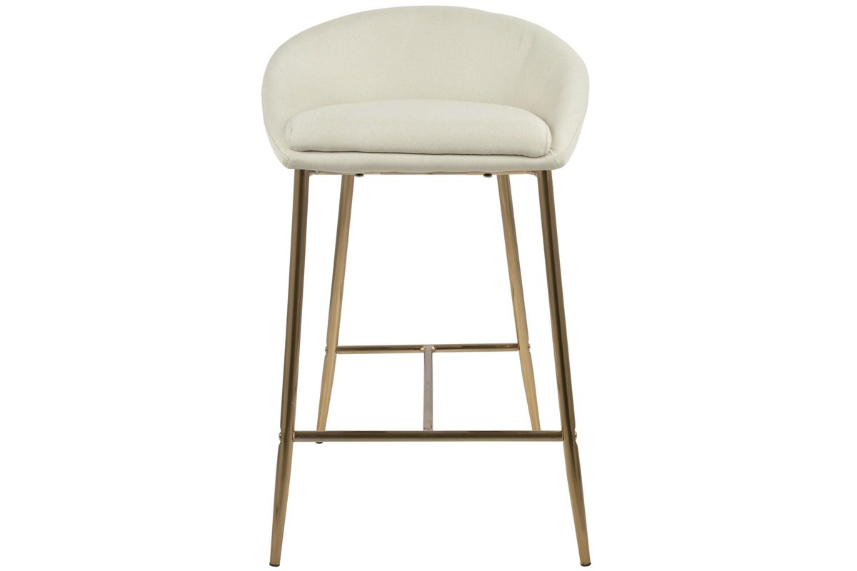 Matisse Glam 26 Counter Stools Set Of 2 In Cream And Gold By