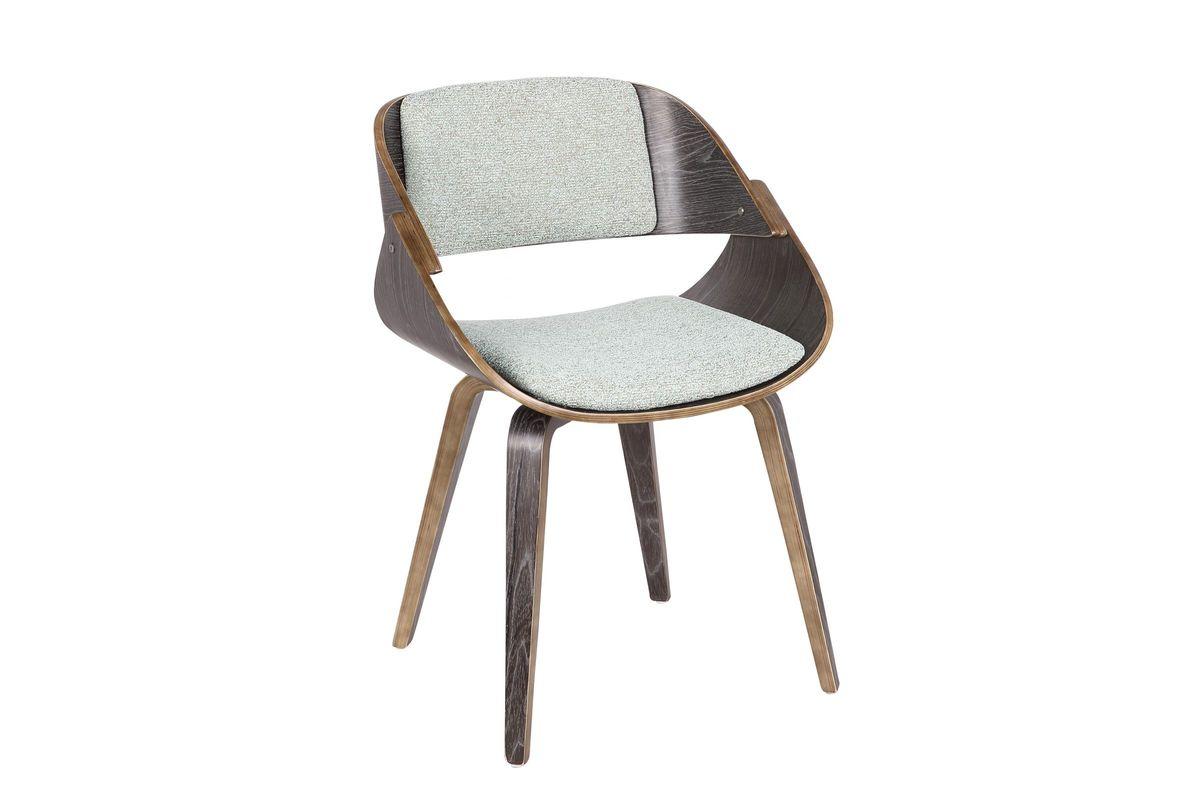 Fortunato mid century modern dining chair in dark grey and green by lumisource from gardner