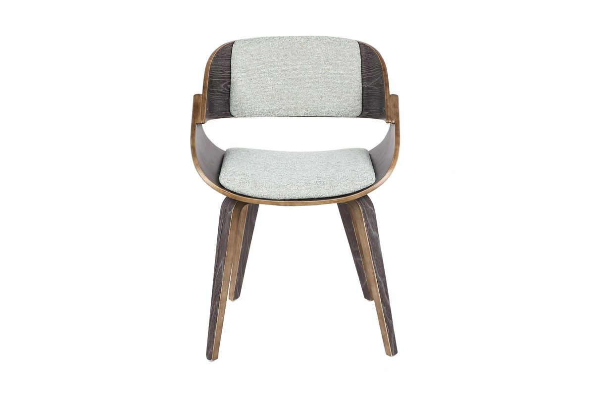Fortunato Mid Century Modern Dining Chair In Dark Grey And