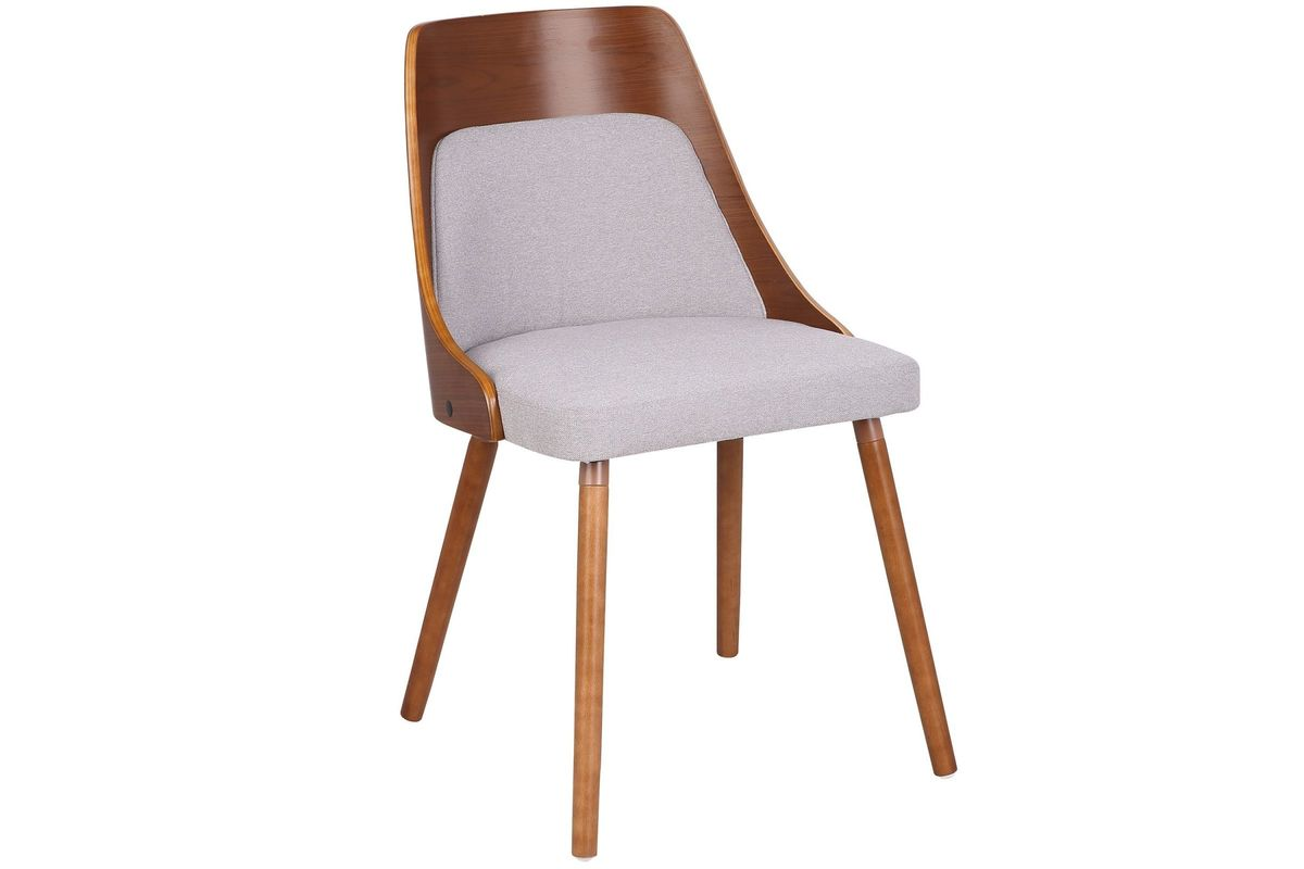 Anabelle Mid Century Modern Dining Chair In Walnut And