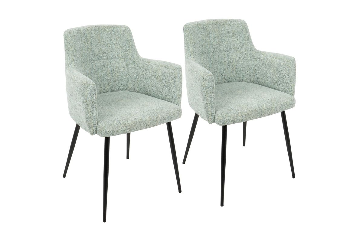 Andrew Contemporary Accent Chairs (Set Of 2) In Seafoam Green By LumiSource  From Gardner